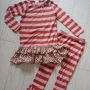 Persnickety dress & triple ruffle leggings